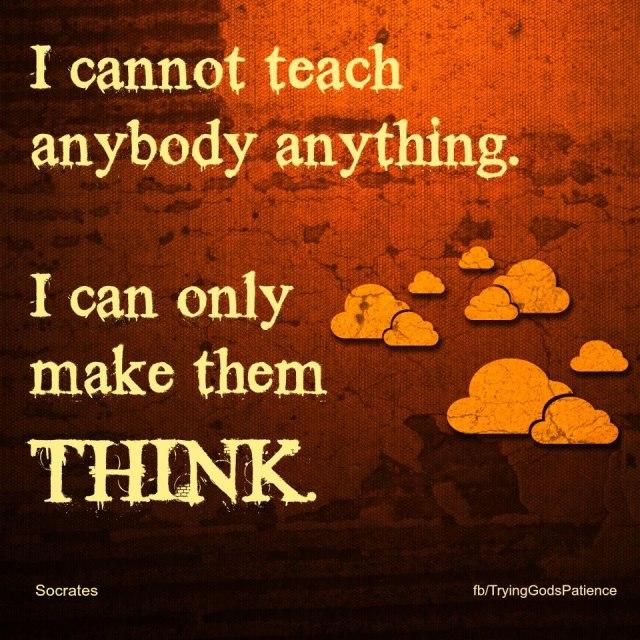 make them think