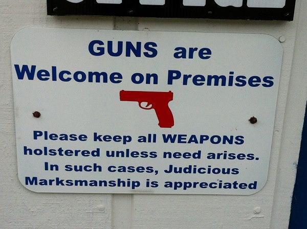 GUNS WELCOME