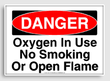 Declarative image in oxygen in use sign printable