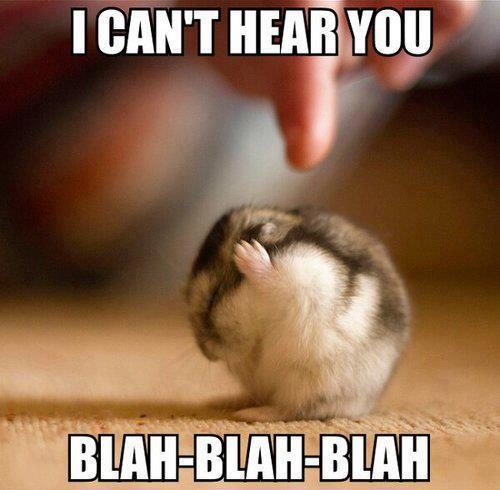 i can't hear you--