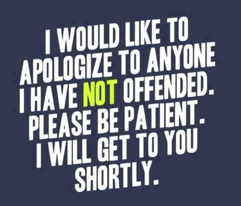 not offended