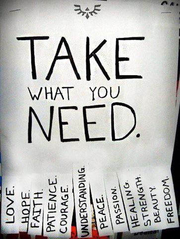 TAKE WHAT YA NEED