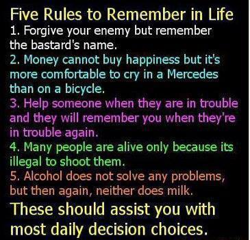 RULES TO REMEMBER