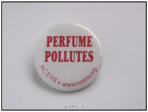 perfume pollutes button