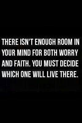 WORRY & FAITH