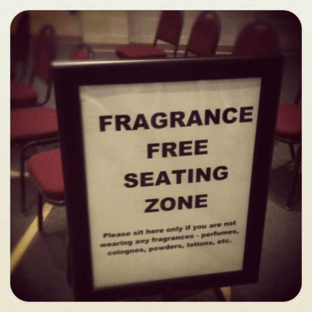 FRAGRANCE FREE SEATING