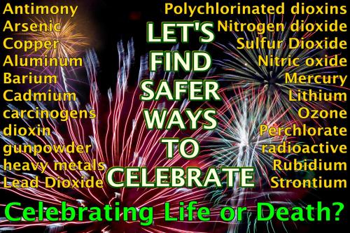 Let's find safer ways to celebrate