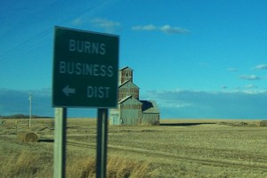 burns business district