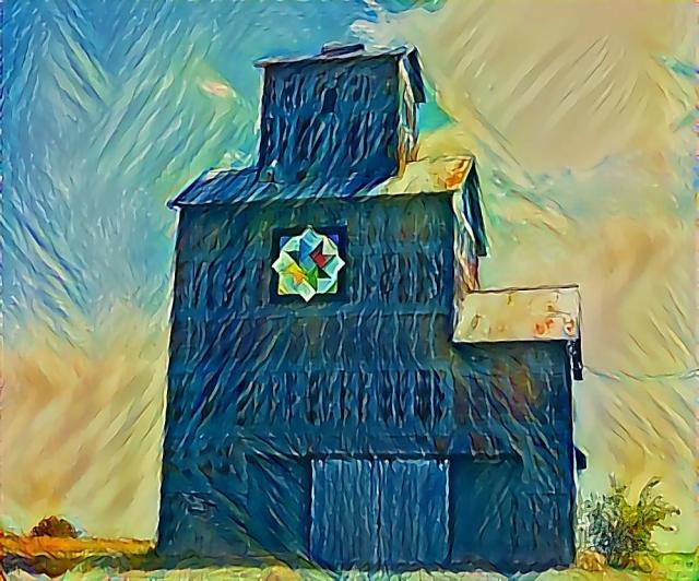 ELEVATOR BLUE GREEN