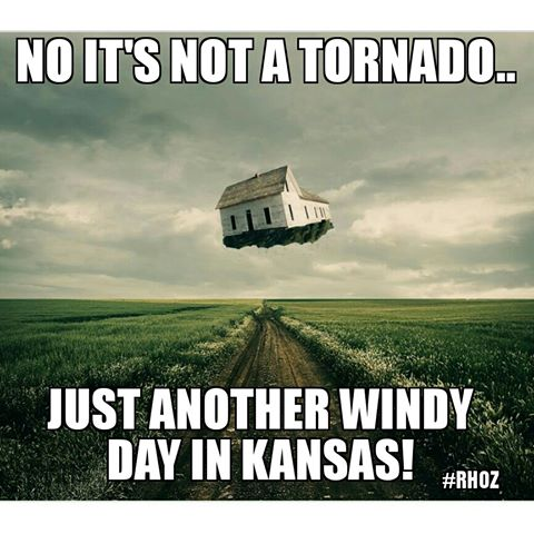 KANSAS WINDY DAY NOT A TORNADO